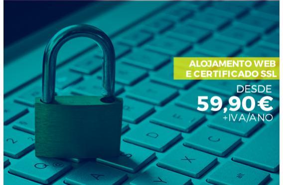 Campanha de alojamento Web e Certificado SSL