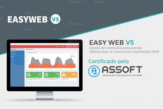 Easyweb certificada pela ASSOFT