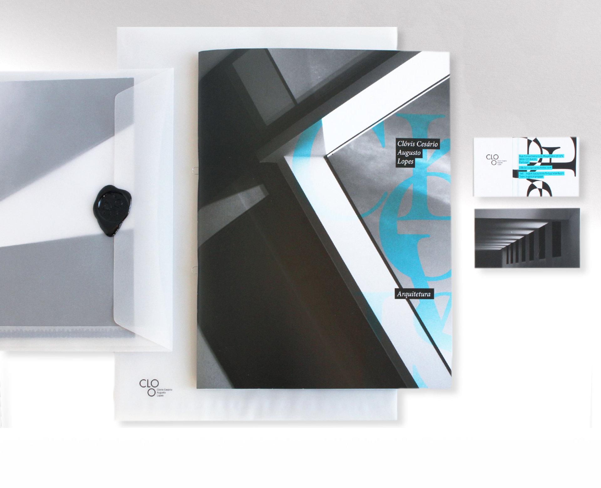 envelope capa portfolio cartão clovis lopes arquiteto