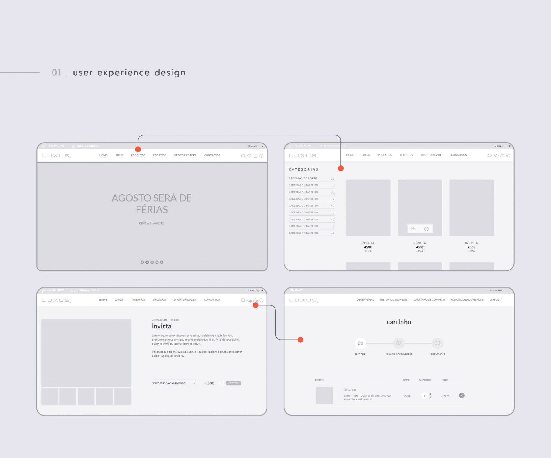Luxus - User Experience Design