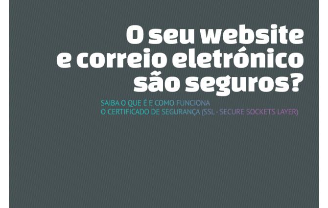 O seu website e correio eletrónico são seguros?